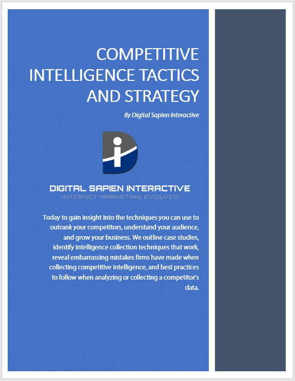 Competitve Intelligence Tactics And Strategy - Digital Sapien Interactive