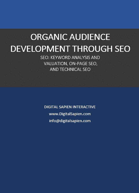 Organic Audience Development Through SEO - Digital Sapien Interactive