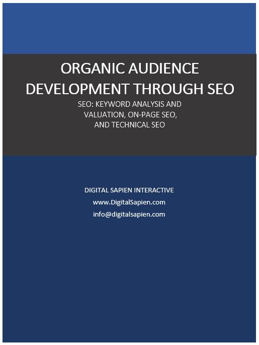 Organic Audience Development Through SEO - Digital Sapien Interactive