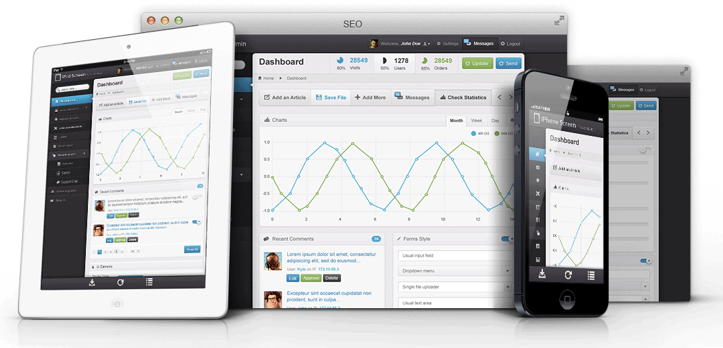 SEO for Enterprises Dashboard