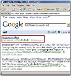 Google search using query
